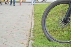Ruota di bicicletta, parte, esterno, un giorno di estate Immagini Stock