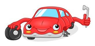 Ruota di cambiamento dell'automobile del fumetto Fotografie Stock Libere da Diritti