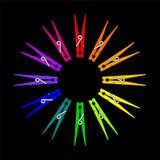 Ruota di colore della molletta da bucato di vettore Fotografie Stock Libere da Diritti
