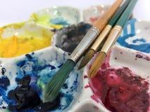 Ruota di colore di Brushand Fotografia Stock