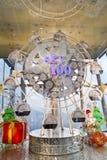 Ruota di Ferris al Natale a Hong Kong Fotografia Stock