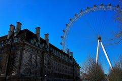 Ruota di ferris dell'occhio di Londra, Londra, 2013 immagine stock