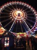 Ruota di Ferris di Natale Fotografia Stock Libera da Diritti