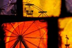 Astrazione del carosello della ruota di Ferris Fotografia Stock