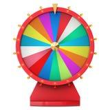 Ruota di filatura realistica di fortuna, roulette fortunate Ruota variopinta di fortuna o di fortuna Fortuna della ruota isolata  illustrazione vettoriale