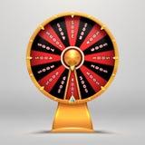 Ruota di fortuna La gente spingente di moto di numero fortunato gira l'illustrazione del segno di vettore degli oggetti di fortun illustrazione vettoriale