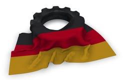 Ruota di ingranaggio e bandiera della Germania illustrazione di stock