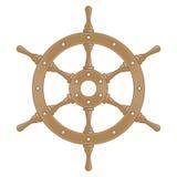 Ruota di legno della nave illustrazione vettoriale