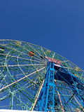 Ruota di meraviglia di Coney Island Fotografie Stock