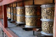 Ruota di preghiera Tibet Fotografia Stock