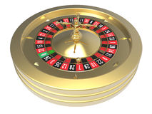 Ruota di roulette del casinò Fotografia Stock Libera da Diritti