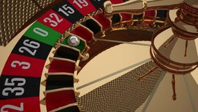 Ruota di roulette realistica del casinò con il numero di conquista zero royalty illustrazione gratis