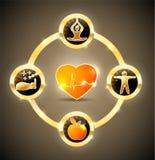 Ruota di salute del cuore Fotografia Stock