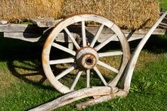 Ruota di un carrello del fieno Fotografia Stock Libera da Diritti