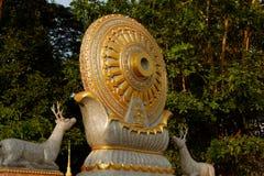 Ruota di vita: Dhamma per il rilascio fotografia stock