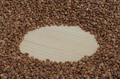Ruota e grano saraceno Immagini Stock Libere da Diritti