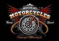 Ruota ed ali - illuastration di vettore della ruota del motociclo Fotografia Stock Libera da Diritti