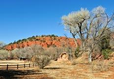 Ruota idraulica dell'azienda agricola dell'Arizona   Fotografie Stock Libere da Diritti