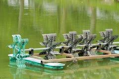 Ruota idraulica della turbina di trattamento delle acque Fotografia Stock