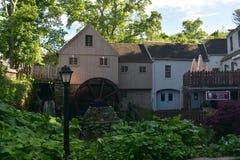 Ruota idraulica a Jenny Grist Mill in Plymouth, Massachusetts immagine stock