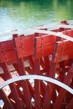 Ruota a pale del riverboat. immagini stock