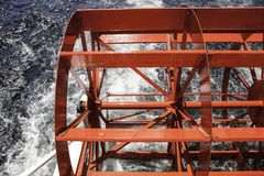 Ruota a pale dell'acqua Fotografia Stock Libera da Diritti