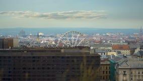 Ruota panoramica a Budapest stock footage