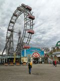 Ruota panoramica nel parco di Prater, Vienna, Austria fotografie stock libere da diritti