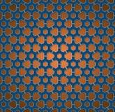 Ruote blu ed arancio del modello di ingranaggio Fotografia Stock