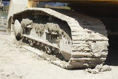 Ruote a catena di un escavatore Fotografia Stock Libera da Diritti