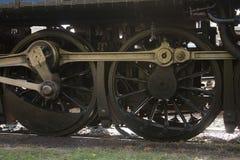 Ruote del treno a vapore Immagine Stock Libera da Diritti