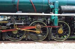 Ruote della locomotiva a vapore Fotografie Stock Libere da Diritti