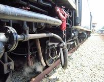 Ruote della locomotiva a vapore Fotografia Stock Libera da Diritti