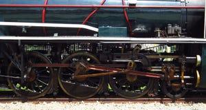 Ruote della locomotiva a vapore Immagine Stock