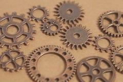 Ruote di ingranaggi del metallo immagini stock