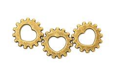 Ruote di ingranaggi meccaniche d'annata della ruota dentata Fotografie Stock
