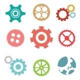 Ruote di ingranaggio del meccanico Fotografie Stock