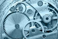 Ruote di ingranaggio dentro l'orologio Lavoro di squadra di concetto Macro Fotografie Stock
