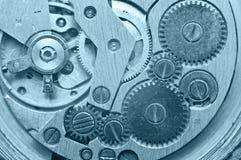 Ruote di ingranaggio dentro l'orologio Lavoro di squadra di concetto Macro Fotografia Stock Libera da Diritti