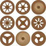Ruote di legno Immagini Stock