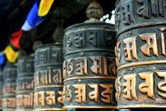 Ruote di preghiera Katmandu Fotografia Stock Libera da Diritti