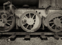 Ruote di un motore a vapore d'annata Fotografia Stock Libera da Diritti