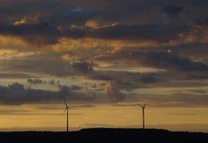 Ruote di vento Fotografia Stock