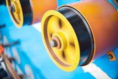 Ruote gommate giranti della bobinatrice Fotografia Stock Libera da Diritti
