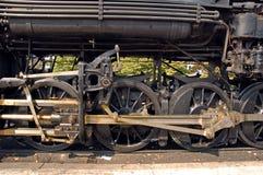 Ruote motrici sul motore a vapore Fotografia Stock Libera da Diritti