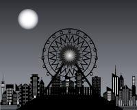 Ruote panoramiche alla notte Immagini Stock