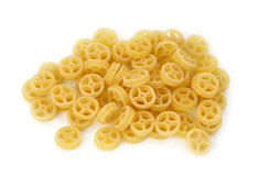 Ruote pasta. Isolated on white background Royalty Free Stock Images