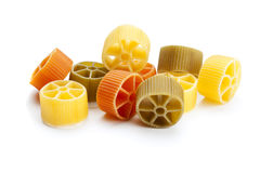 Ruote pasta isolated Stock Photography