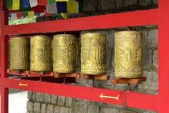 Ruote pregare del buddista Fotografie Stock
