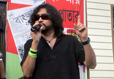 Rupam Islam Rock at Book Fair. Stock Photo